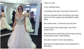 Dream Wedding Dresses Man Finds Photo Of Late Wife In Her Dream Wedding Dress