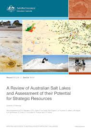 cuisine uilibr a review of australian salt lakes and pdf available