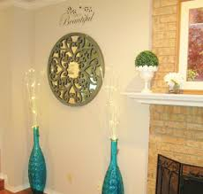 Floor Vases Home Decor Pier One Carved Scroll Wall Decor And Teal Peacock Floor Vases
