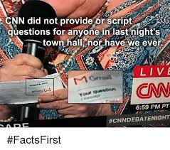 Script Meme - cnn did not provide or script questions for anyone in last night s