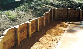Pioneer Ironbark Concrete Sleeper Retaining Wall Visit Www - Timber retaining wall design