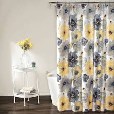 Yellow And Gray Window Curtains Bathroom Color Yellow And Grey Shower Curtain Curtains