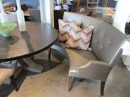 fancy curved bench for round dining table 91 for creative outdoor