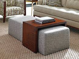 Leather Storage Ottoman Coffee Table Fascinating Reversible Ottoman Coffee Table Brown Leather Storage