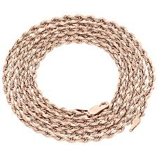 rose gold rope chain bracelet images 10k rose gold diamond cut solid rope chain 5mm twist shiny jpg