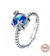 stone finger rings images 925 sterling silver blue big stone the seaside scroll finger ring jpg