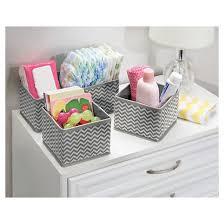 interdesign chevron fabric 4 piece nursery drawer or changing