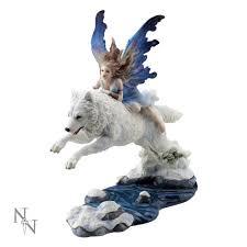 nemesis now free spirit enchanted wolf ornament