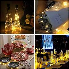 party in my bedroom pack of 6 led bottle cork lights 30in 75cm copper wire string