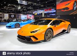 lamborghini car 2017 bangkok thailand 28th mar 2017 lamborghini car on display at