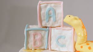 how to make fondant alphabet blocks for a baby shower cake
