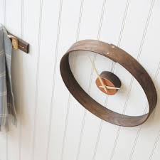 steam bent wooden clock by layertree notonthehighstreet com