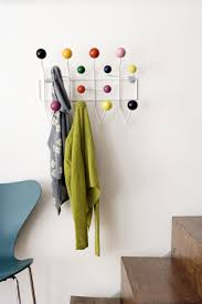 decorations creative cafe modern wooden rotating peg coat rack