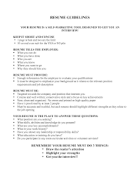 Best Quality Resume Format by Guidelines For Resume Format Resume Format
