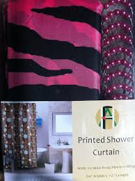 Zebra Shower Curtain by Amazon Com Shower Curtain Kids Jungle Safari Pink Zebra Design