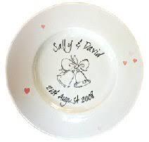 wedding signing plate wedding plates