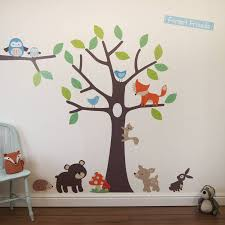 Tree Wall Decals For Nursery Forest Friends Tree Wall Stickers Deco Wall Decals