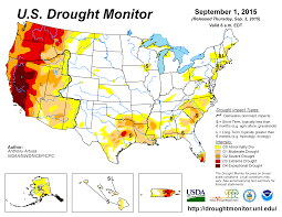 Oregon Temperature Map by Drought August 2015 State Of The Climate National Centers