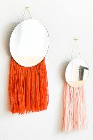 manchette cache pot diy fringed mirror wall hanging macramé creatif et diy