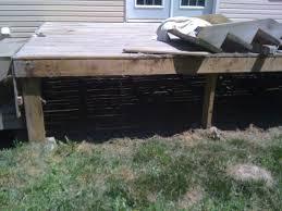 use of precast concrete post bases decks u0026 fencing