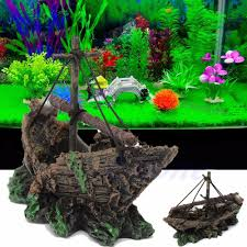 popular shipwreck aquarium decorations buy cheap shipwreck