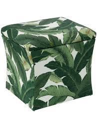 storage ottoman banana palm