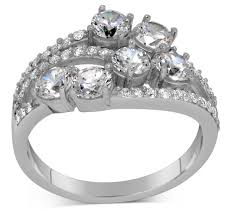 Huge Wedding Rings by Unique 2 Carat Round Diamond Ring For Women Jeenjewels