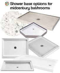 Bathroom Shower Bases 9 Shower Bases In 4 Different Materials That Could Be Great For