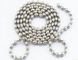 silver ball beads necklace images Free shipping wholesale 316l 2 4mm stainless steel silver rice jpg