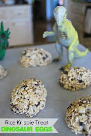 dinosaur egg rice krispie treats mess for less