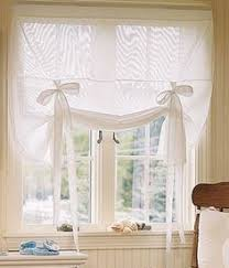 White Tie Curtains Tutorial How To Sew A Roll Up Ribbon Tie Curtain Curtains