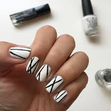 it u0027s because i think too much five monochrome nail art designs