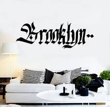 vinyl wall decal brooklyn graffiti word teen room new york vinyl wall decal brooklyn graffiti word teen room new york stickers ig4345