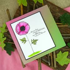 Words Of Wisdom Cards Because Of You From The Poppy Fields Set Sentiment From The