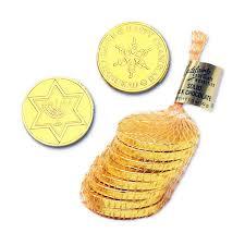 hanukkah chocolate coins hanukkah gelt gold foiled milk chocolate coins 1 ounce mesh bags