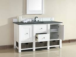 abstron 60 inch white single sink bathroom vanity optional countertops