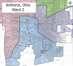 amherst map amherst ohio ward 2 map amherst ohio