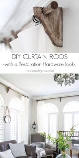 Hanging Up Curtains Without Nails by Best 25 Wooden Curtain Rods Ideas On Pinterest Wood Curtain