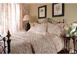toile de jouy antique pink bedspreads