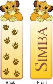 children books bookmarks to print lion king simba imprimibles