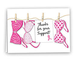 cancer cards breast cancer awareness pink ribbon thanks for your