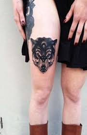 73 amazing wolf designs wolf tattoos thigh and wolf