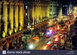 selfridges oxford street london red busses bus christmas