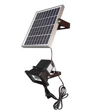 diy solar flood light 5w solar powered panel led sensor light outdoor lighting spotlight