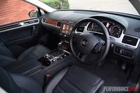 volkswagen suv 2015 interior 2015 volkswagen touareg v6 tdi review video performancedrive