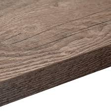 B Q Laminate Flooring Underlay 38mm Mountain Timber Wood Effect Square Edge Breakfast Bar L