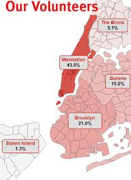 New York Boroughs Map Our Volunteers New York Cares