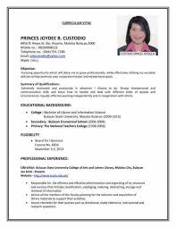 Resume Curriculum Vitae Samples by Curriculum Vitae Sample For Nurses Philippines Cprs Vancouver