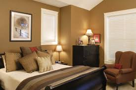 colors that affect mood interior cozy bedroom with dark brown