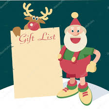 santa gift list santa gift list stock vector mauromod 52860825